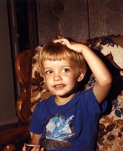 Apparently i always twirled my hair